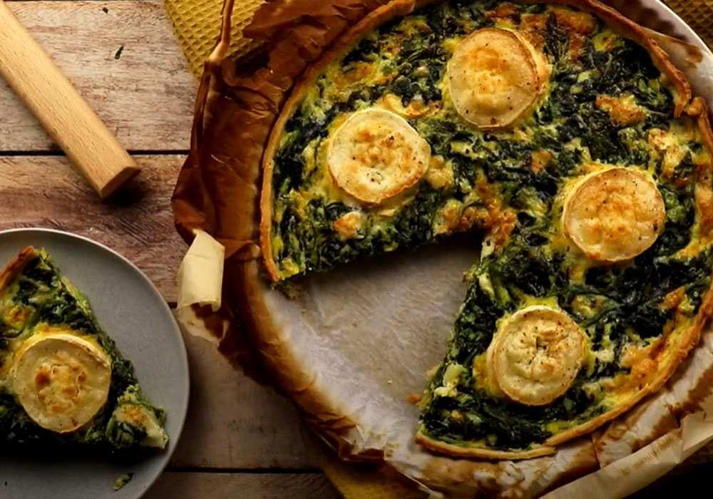 Киш со шпинатом и сыром - пошаговый рецепт, фото 1