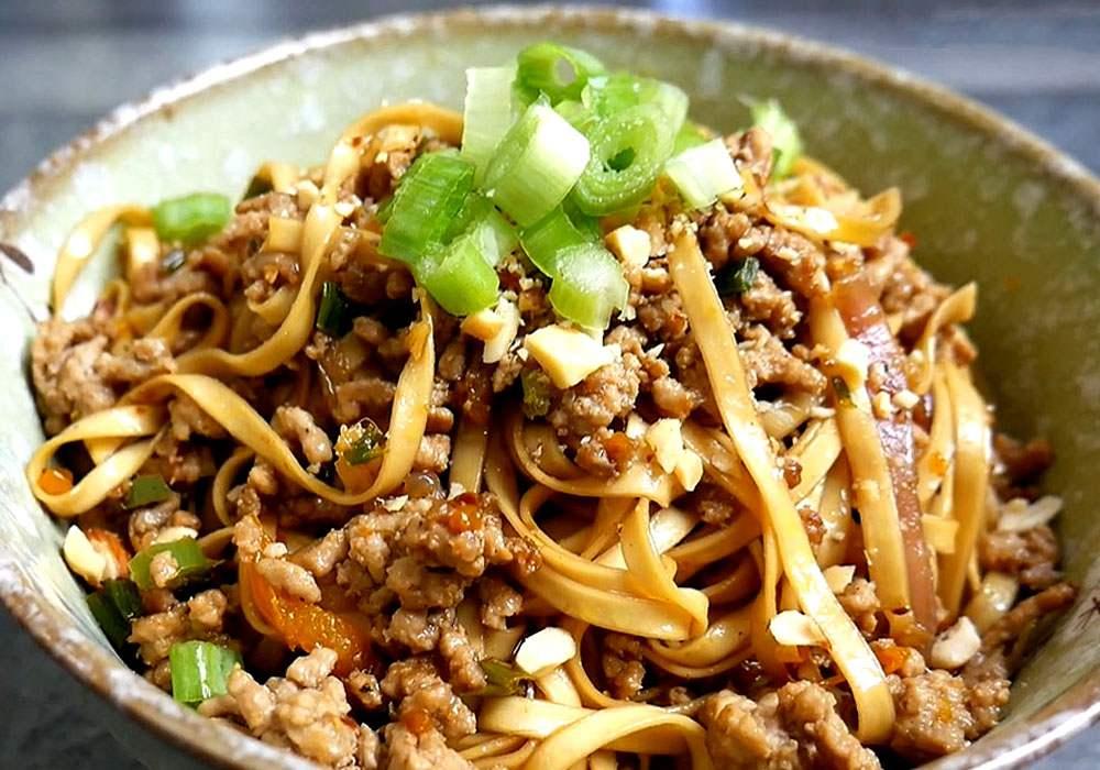 Китайская лапша со свининой - пошаговый рецепт, фото 1