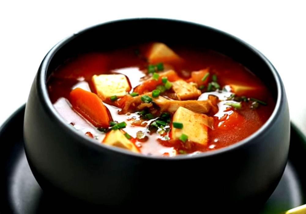 Китайський кисло-гострий суп з тофу - покроковий рецепт, фото 1