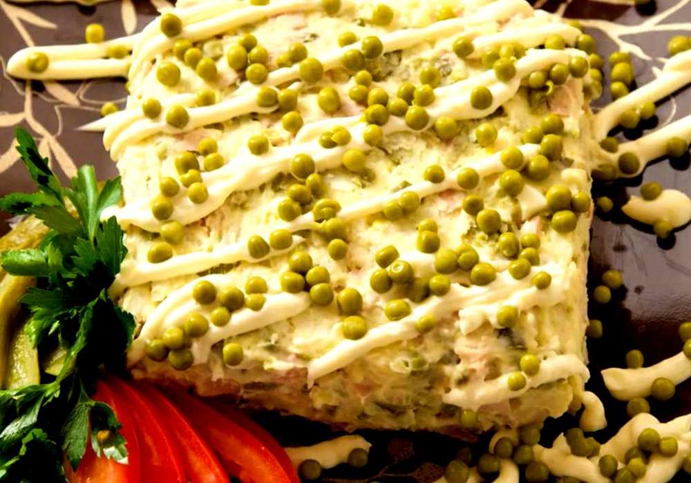 Классический оливье с колбасой - пошаговый рецепт, фото 1