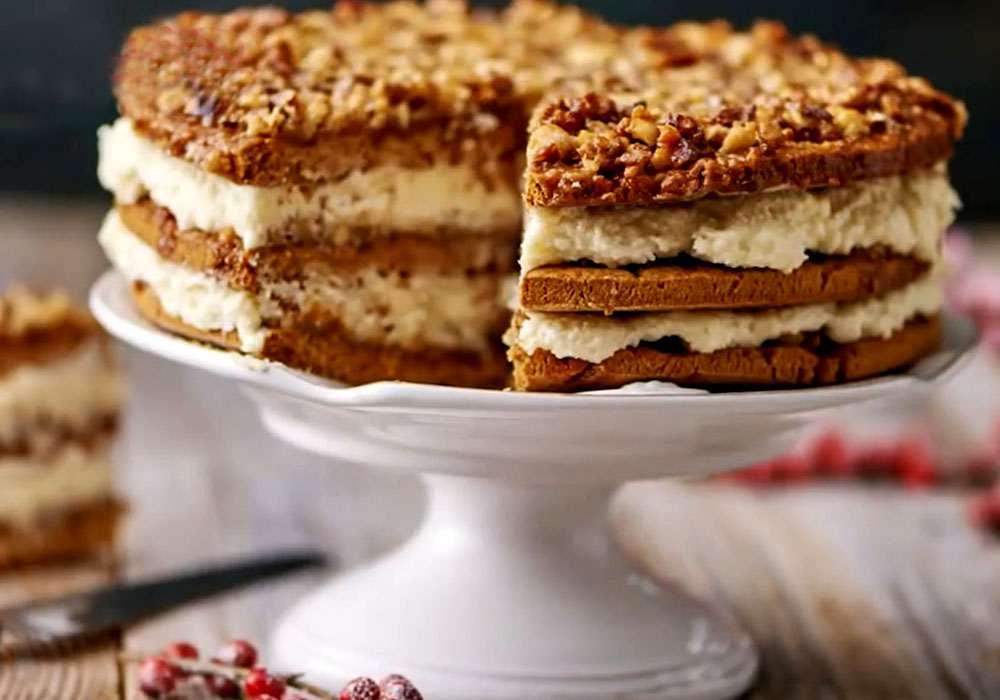 Класичний торт медовик з заварним кремом - покроковий рецепт, фото 1