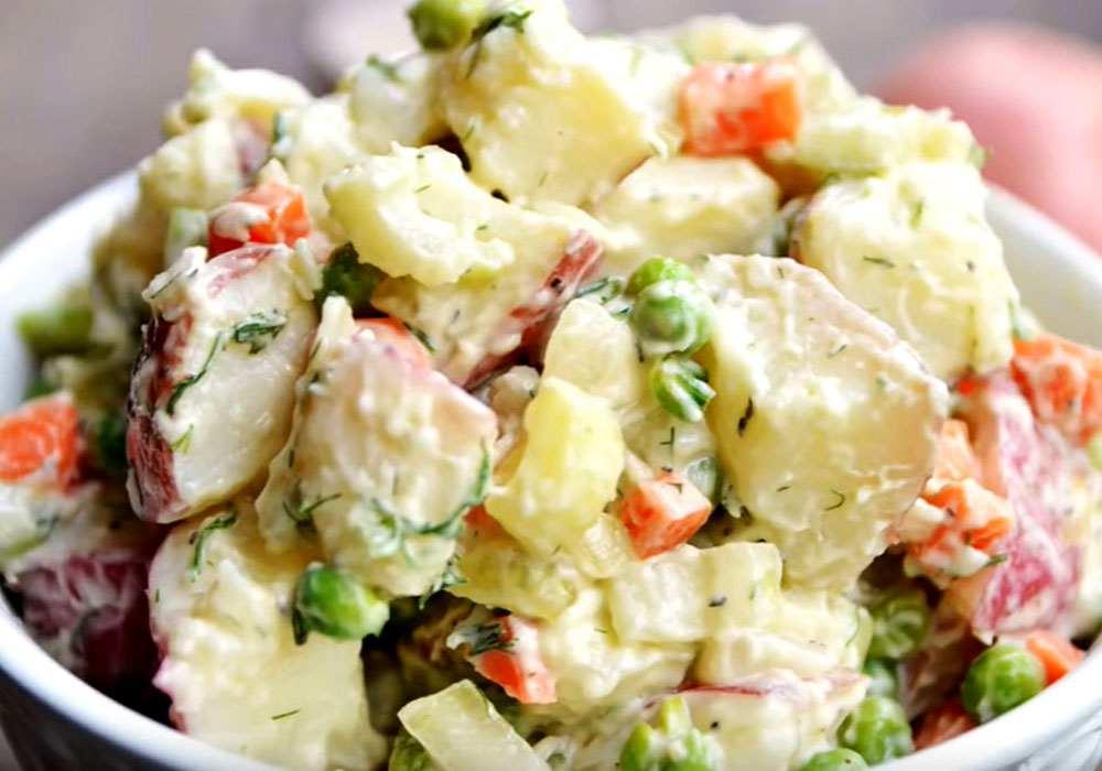 Классический картофельный салат - пошаговый рецепт, фото 1
