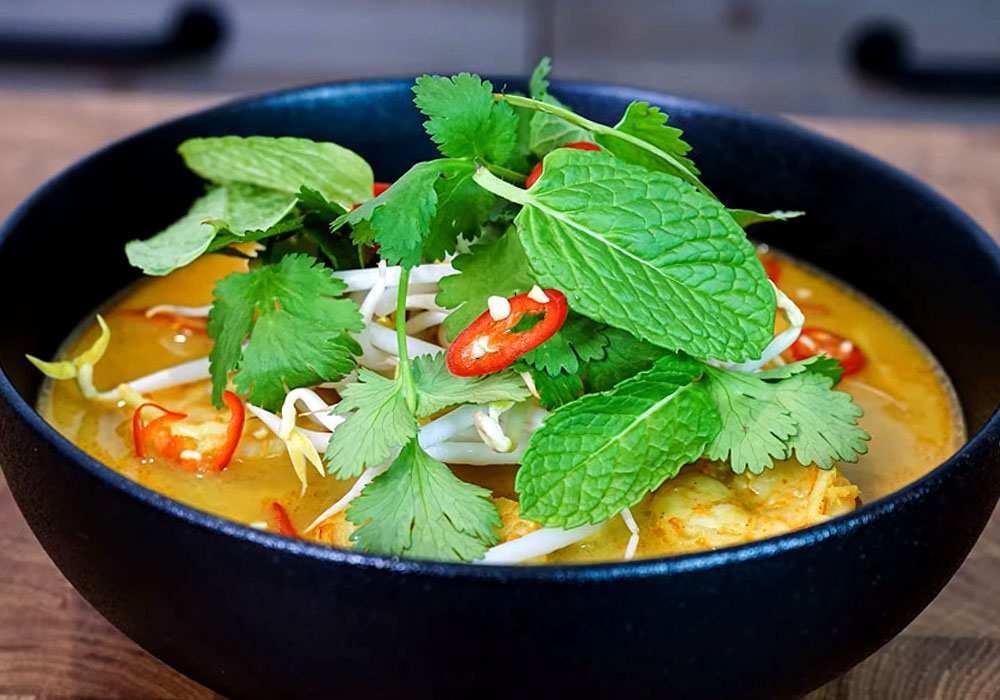 Кокосовый суп с креветками - пошаговый рецепт, фото 1