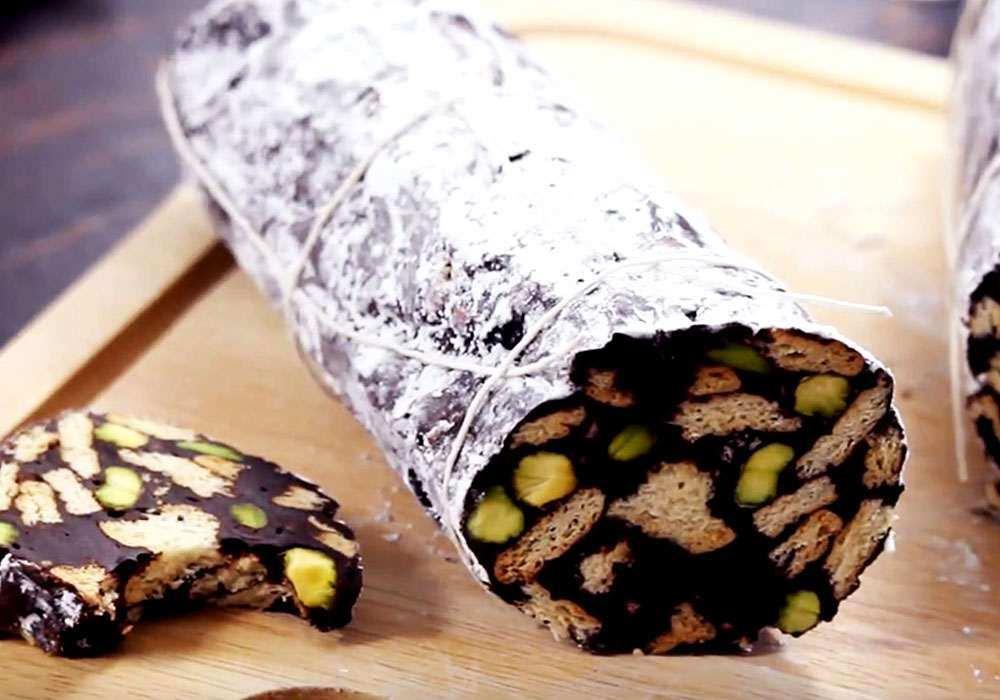 Колбаски из печенья - пошаговый рецепт, фото 1