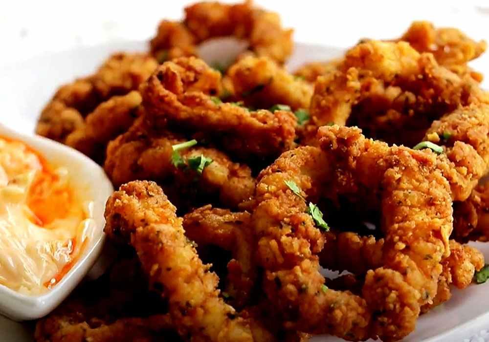 Кольца кальмаров в кляре - пошаговый рецепт, фото 1