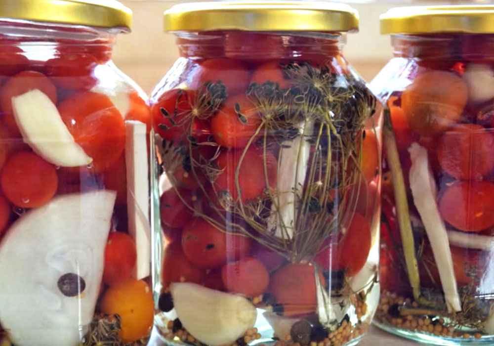 Консервированные помидорчики - пошаговый рецепт, фото 1