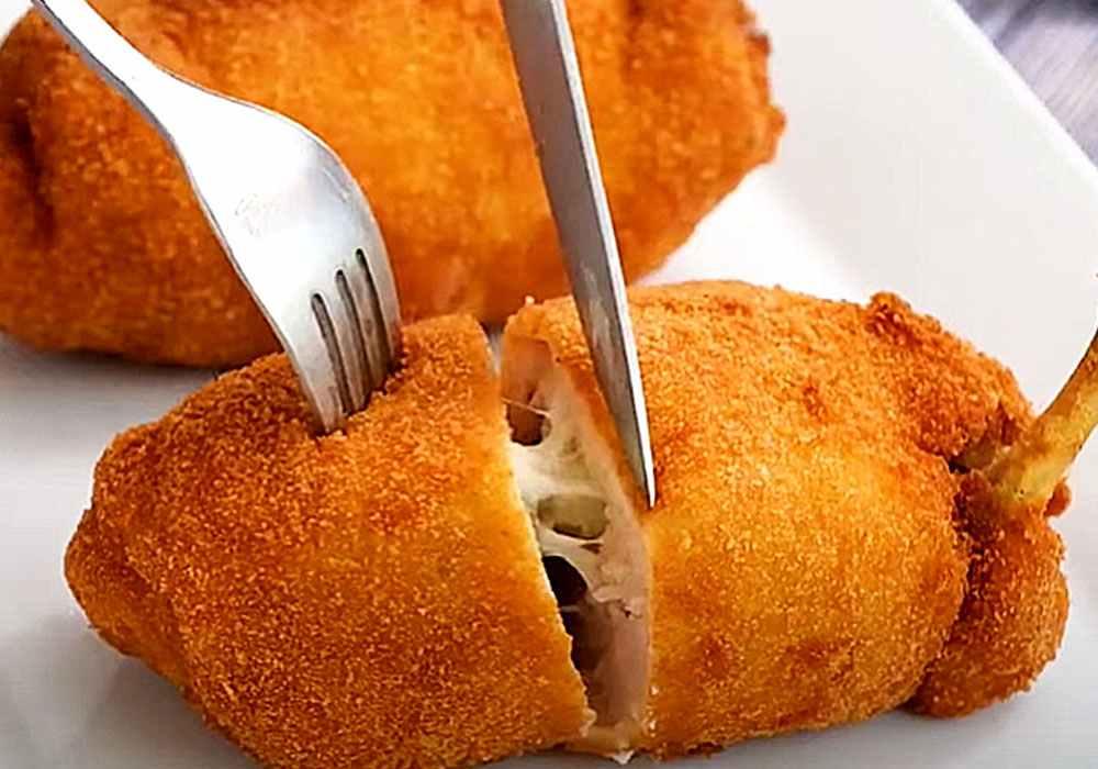 Котлета по-киевски с грибным соусом - пошаговый рецепт, фото 1