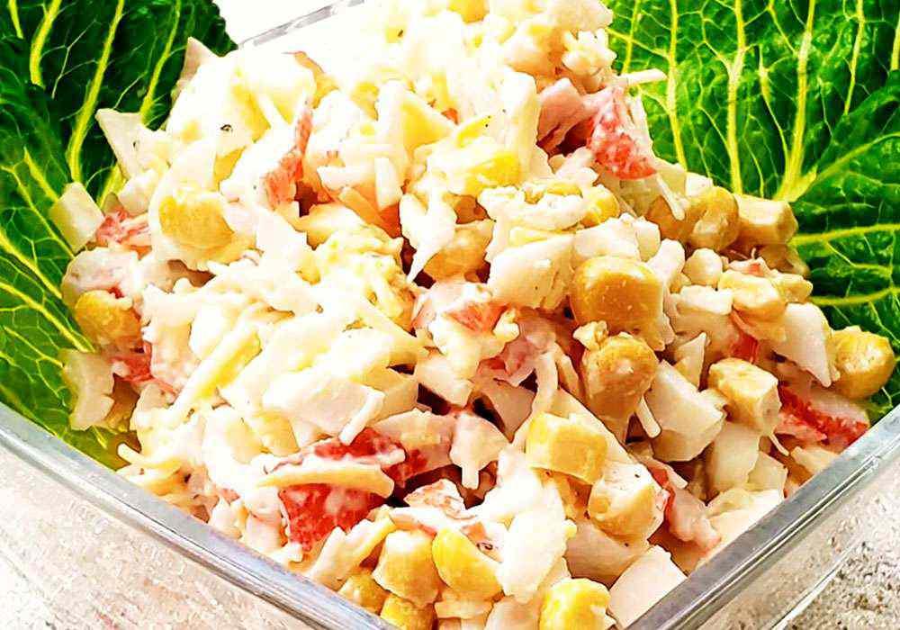 Крабовый салат с сыром - пошаговый рецепт, фото 1