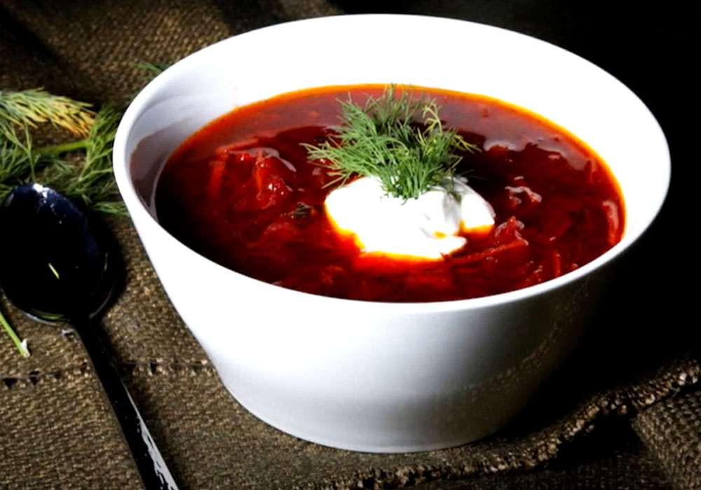 Красный борщ без мяса - пошаговый рецепт, фото 1