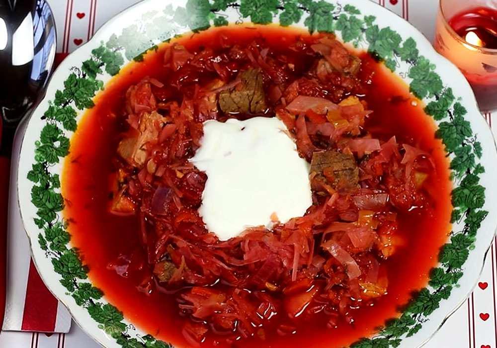 Красный борщ с сахарной свеклой - пошаговый рецепт, фото 1