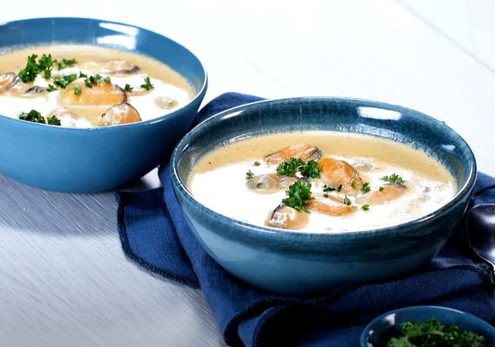 Крем-суп з мідій - покроковий рецепт, фото 1