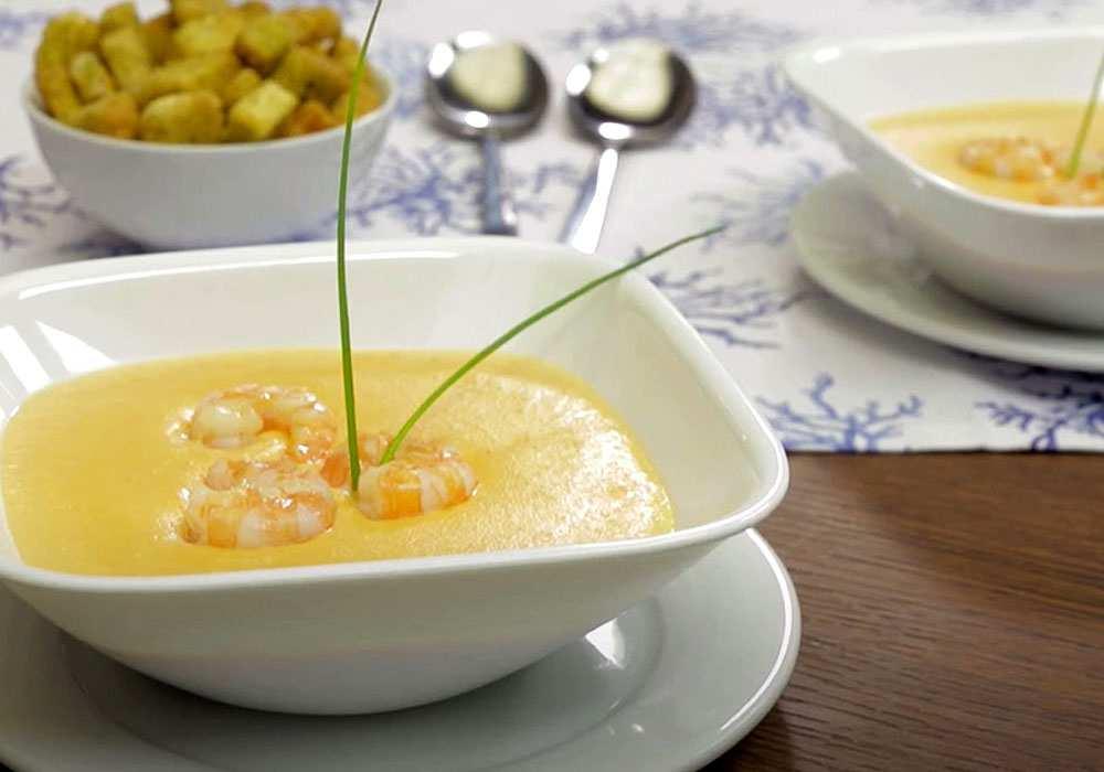 Крем суп с креветками - пошаговый рецепт, фото 1