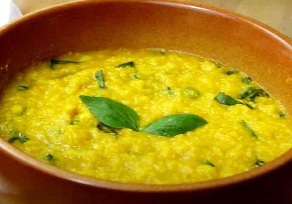 Кукурудзяна каша зі смаженою цибулею - покроковий рецепт, фото 1