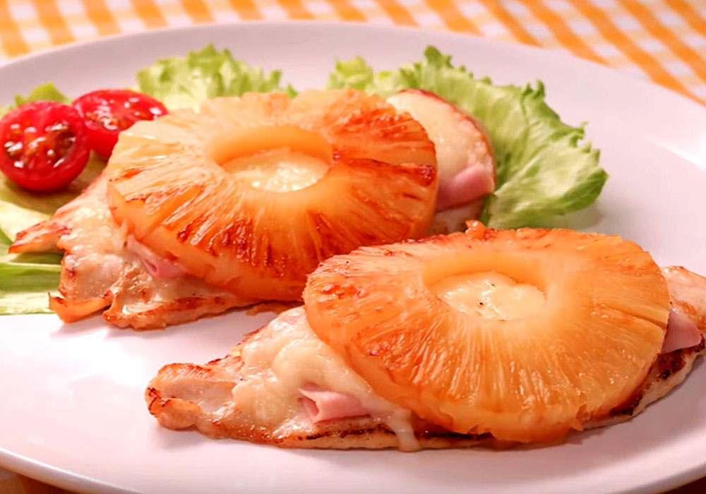Курица с ананасами и сыром на сковороде - пошаговый рецепт, фото 1
