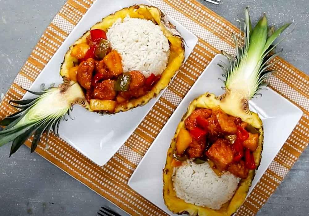 Курица с ананасом по-китайски - пошаговый рецепт, фото 1