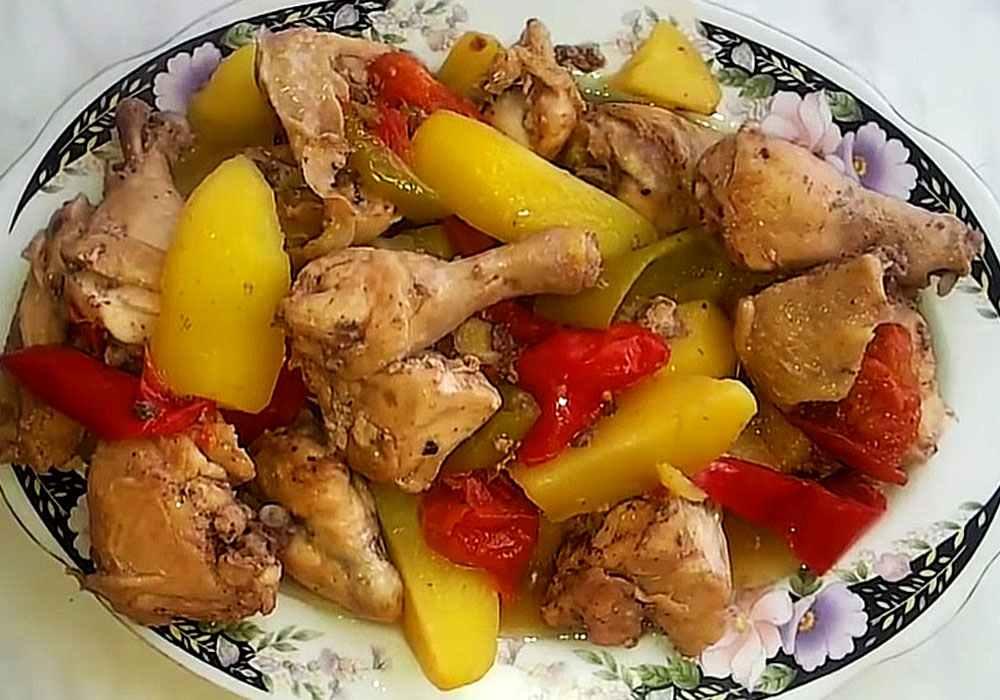 Курица в рукаве с картошкой в духовке - пошаговый рецепт, фото 1