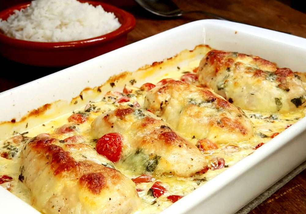 Курица в сметанном соусе в духовке - пошаговый рецепт, фото 1