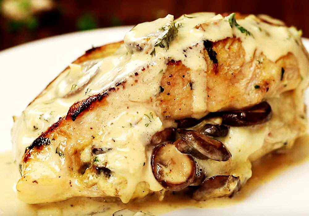 Куряча грудка з грибами і сиром в духовці - покроковий рецепт, фото 1