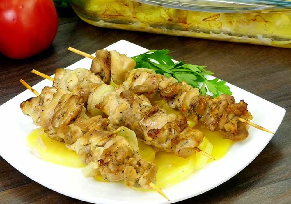 Куриный шашлык - пошаговый рецепт, фото 1