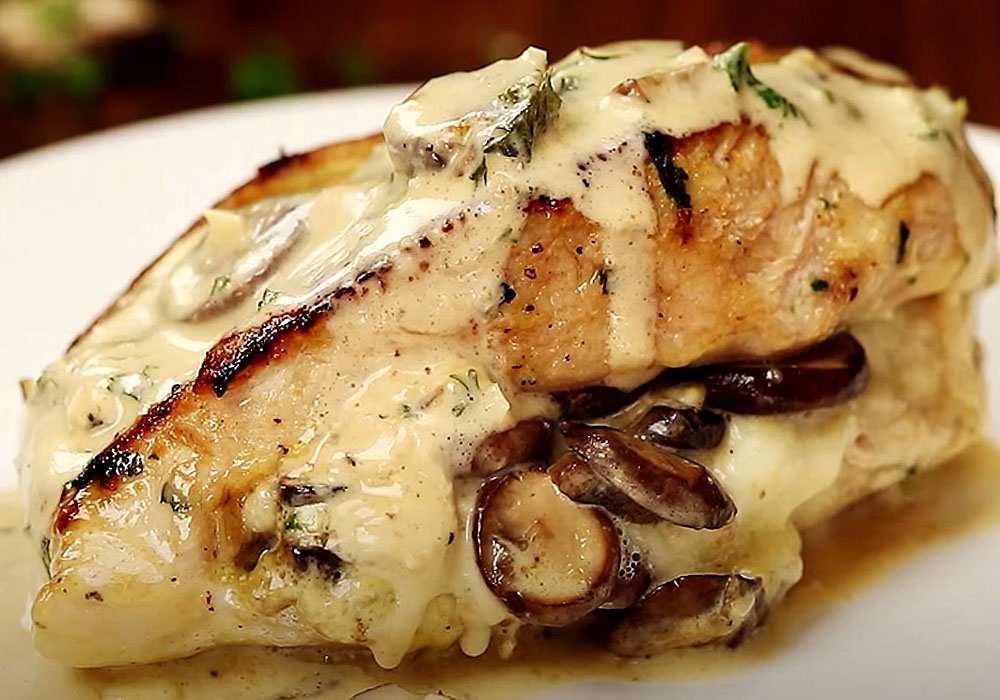 Куриные грудки с грибами и сыром - пошаговый рецепт, фото 1