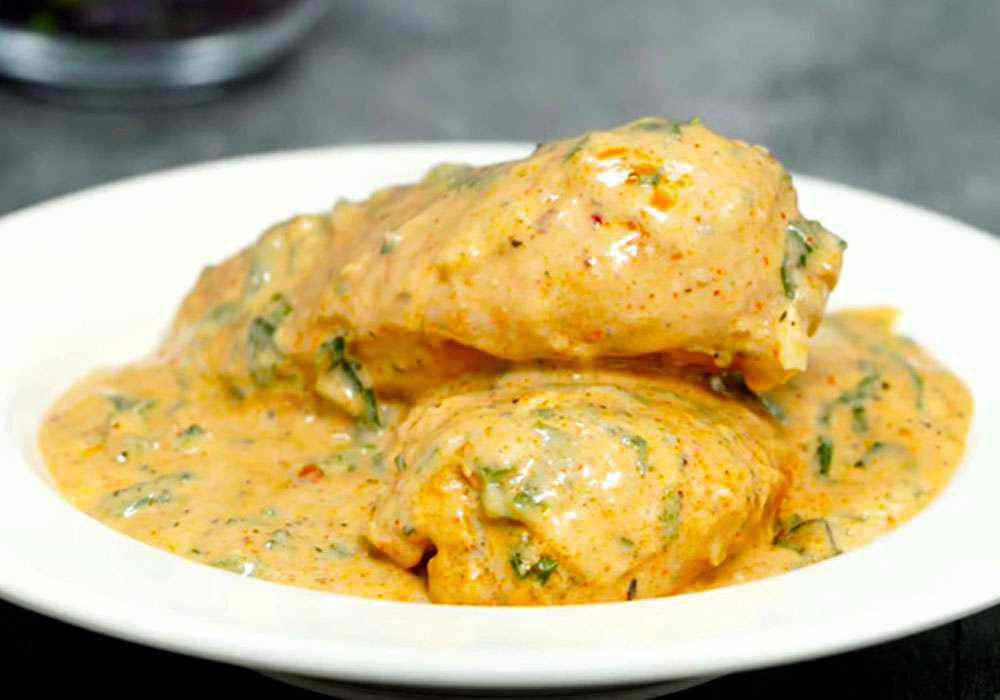 Куриные грудки в сметанном соусе на сковороде - пошаговый рецепт, фото 1