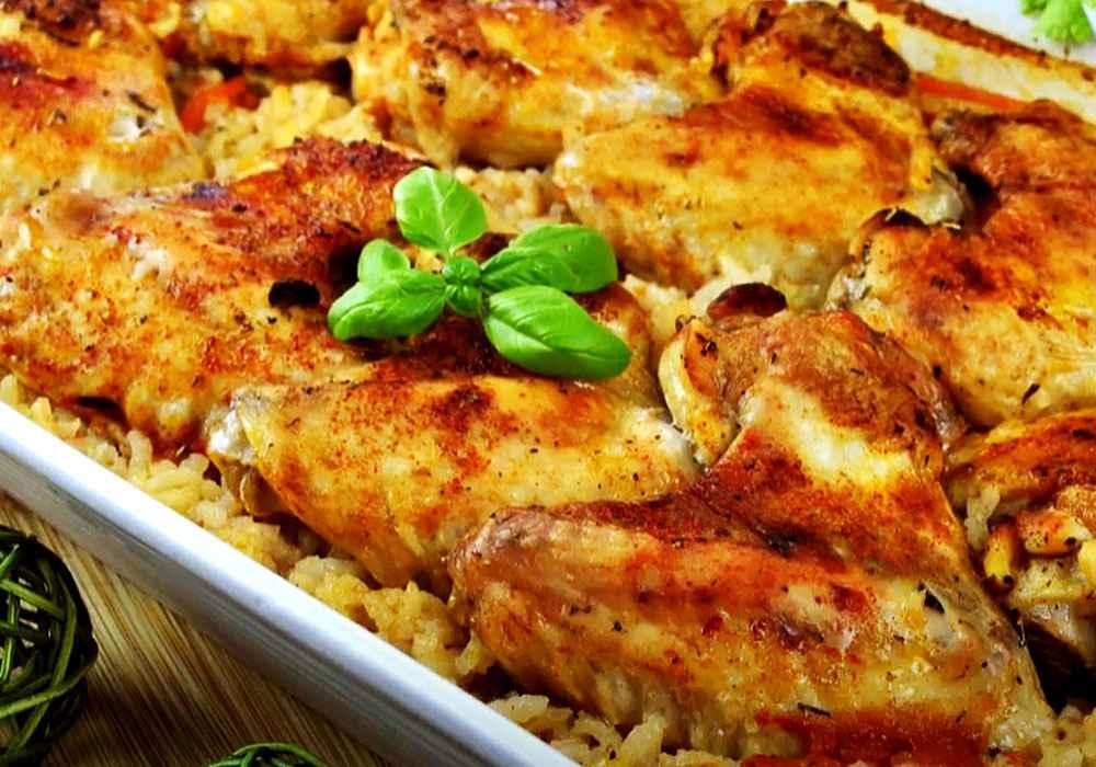 Куриные крылышки с рисом, запеченные в духовке - пошаговый рецепт, фото 1
