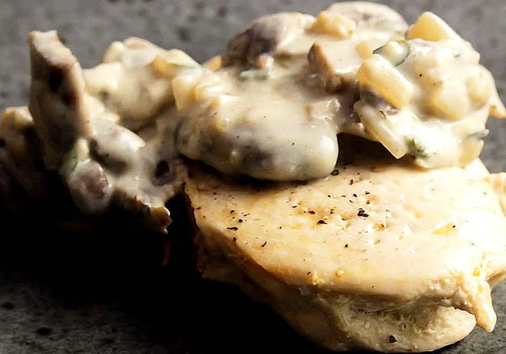 Куриное филе с грибами - пошаговый рецепт, фото 1