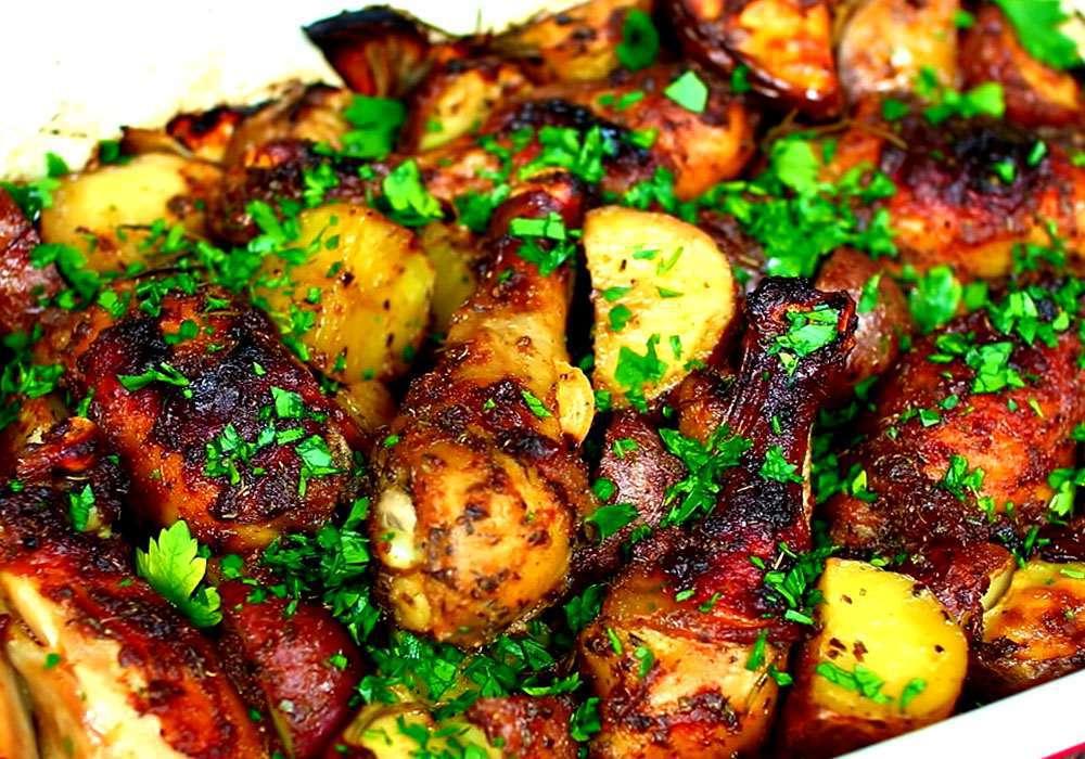 Курка з картоплею - покроковий рецепт, фото 1