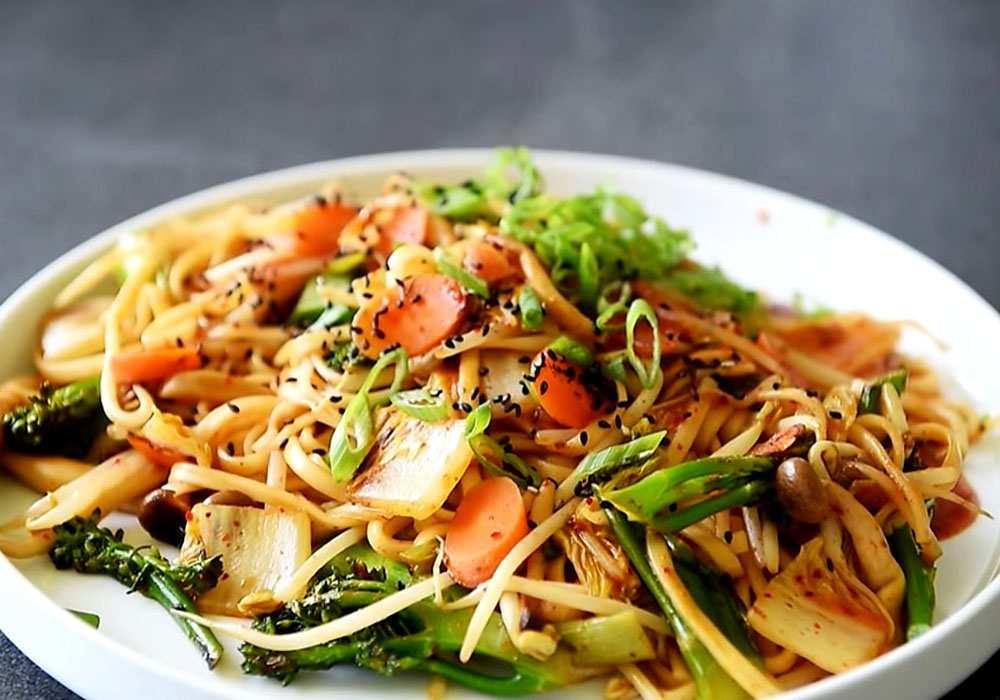 Лапша удон с овощами - пошаговый рецепт, фото 1