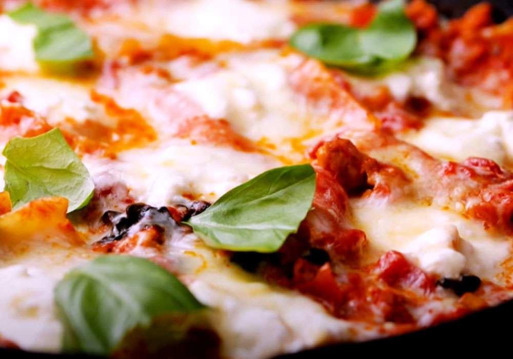 Лазанья в сковороде - пошаговый рецепт, фото 1