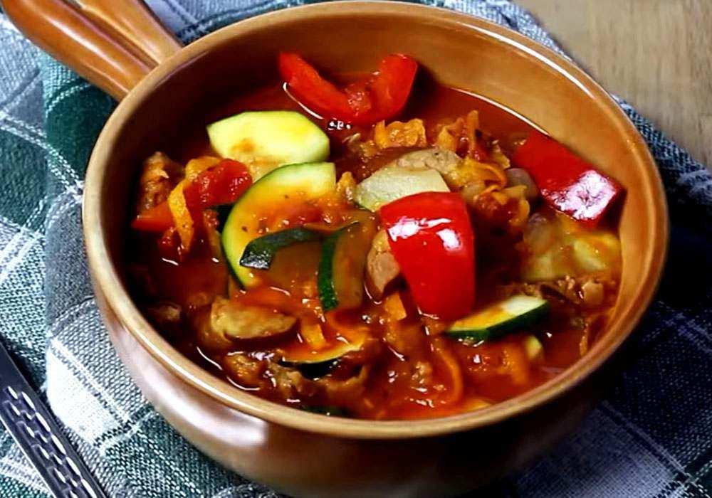 Лечо с колбасой - пошаговый рецепт, фото 1