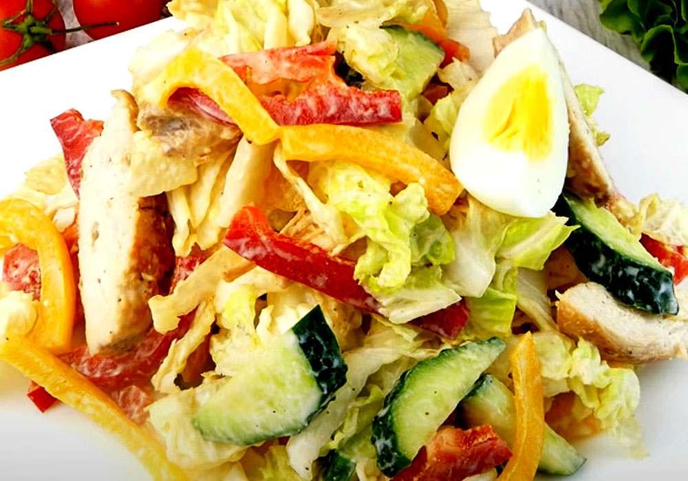Легкий салат - пошаговый рецепт, фото 1