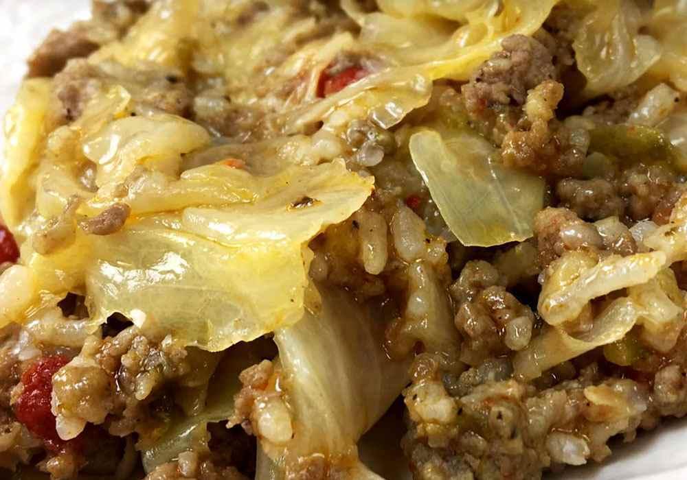 Ленивые голубцы с рисом капустой и фаршем в кастрюле - пошаговый рецепт, фото 1
