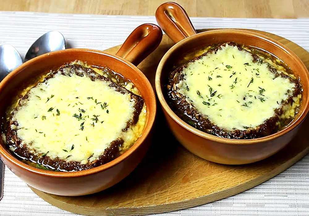Луковый суп по-французски с коньяком - пошаговый рецепт, фото 1