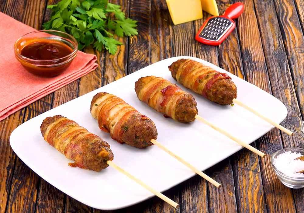 Люля-кебаб из говядины в беконе - пошаговый рецепт, фото 1