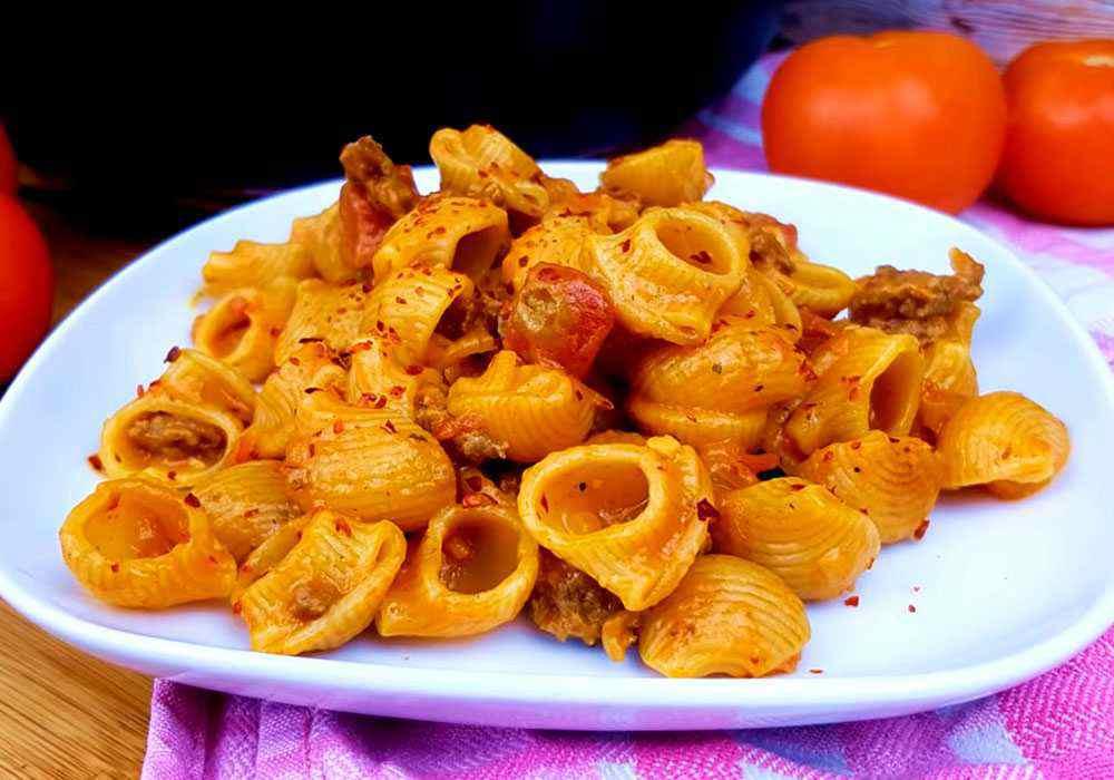Макарони по флотськи з томатною пастою - покроковий рецепт, фото 1