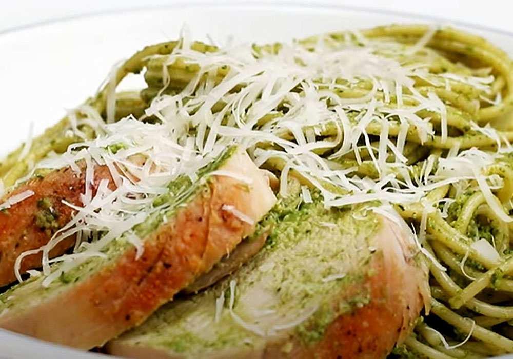 Макароны со шпинатом - пошаговый рецепт, фото 1