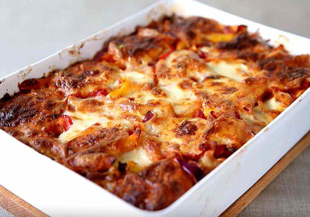 Макарони в духовці, з овочами, в пікантному соусі - покроковий рецепт, фото 1