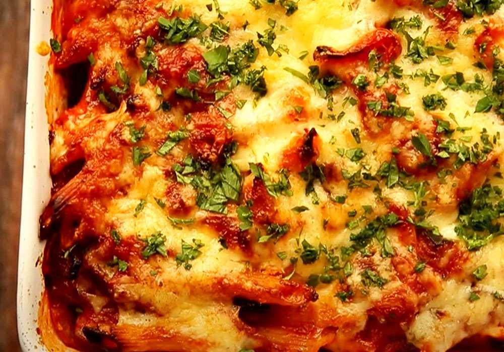 Макарони, запечені з овочами і сиром - покроковий рецепт, фото 1