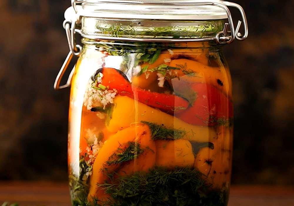 Маринований солодкий перець з часником і зеленню - покроковий рецепт, фото 1