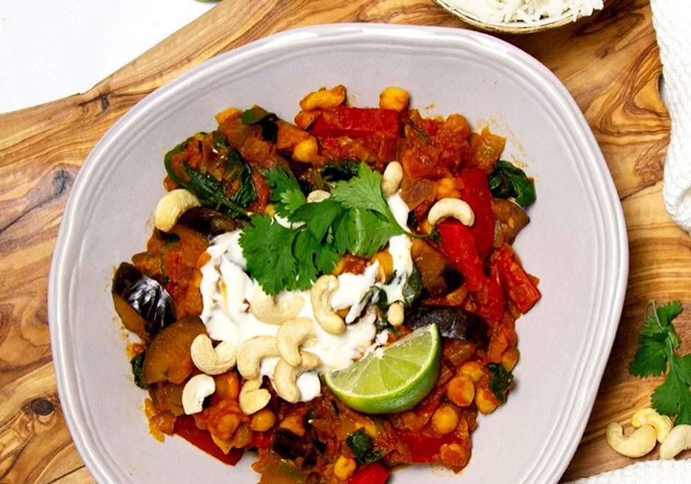 Марокканский тушеный нут с баклажаном - пошаговый рецепт, фото 1