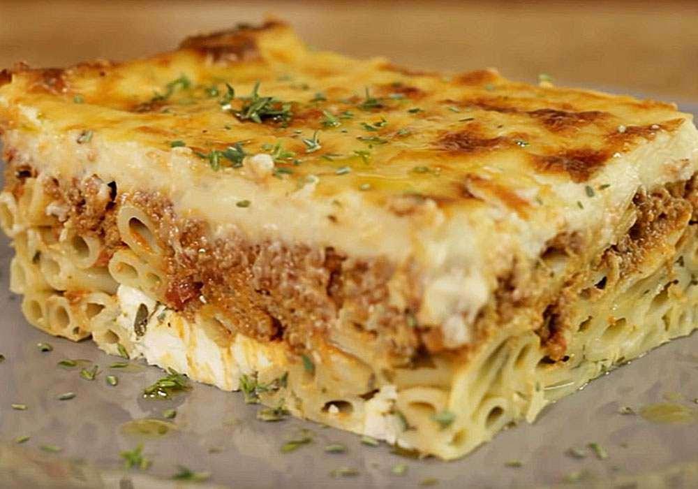 Мясная запеканка из макарон с фаршем в духовке - пошаговый рецепт, фото 1