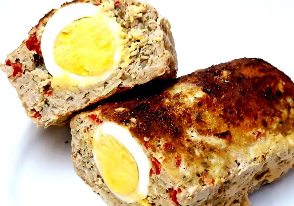 Мясной рулет с яйцом - пошаговый рецепт, фото 1