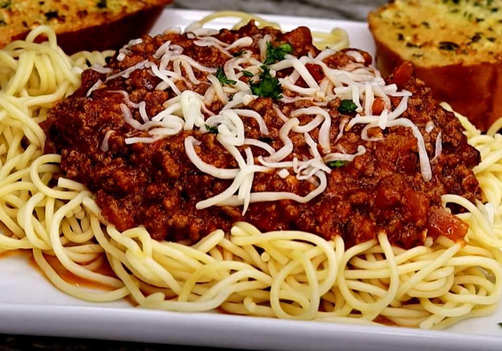 Мясной соус к спагетти - пошаговый рецепт, фото 1