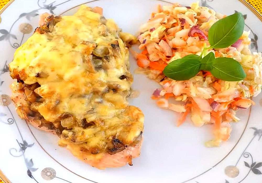 М'ясо по-французьки з печерицями та сиром - покроковий рецепт, фото 1