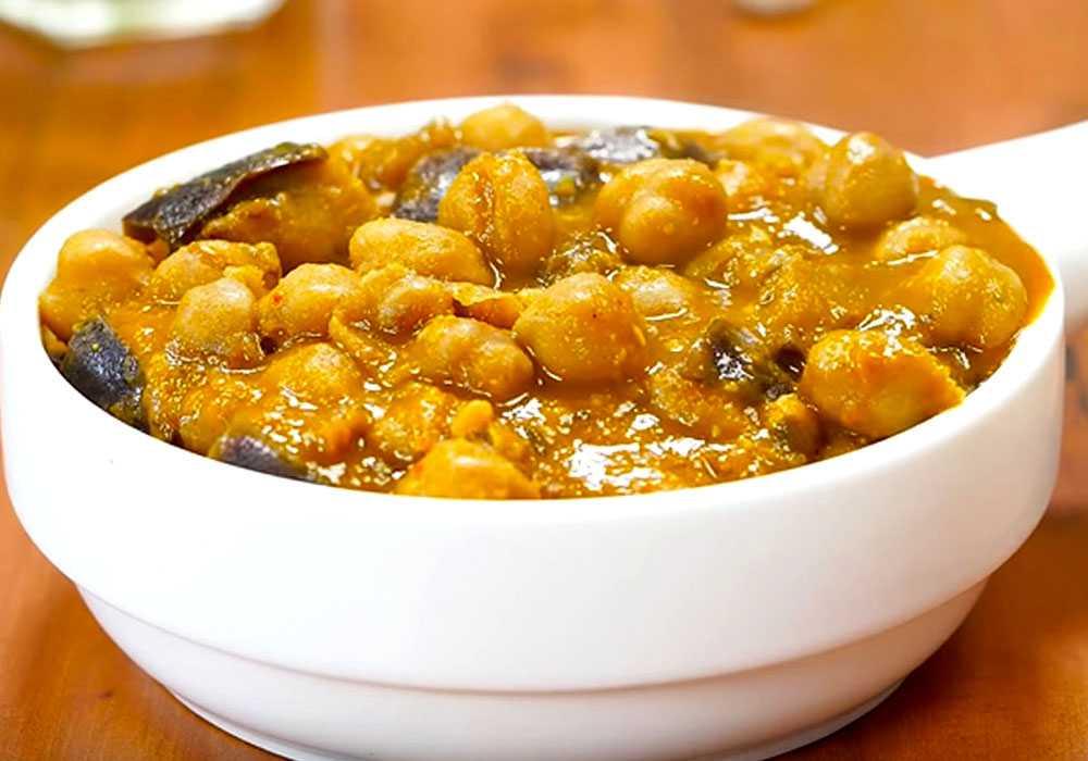 Нут з баклажаном - покроковий рецепт, фото 1