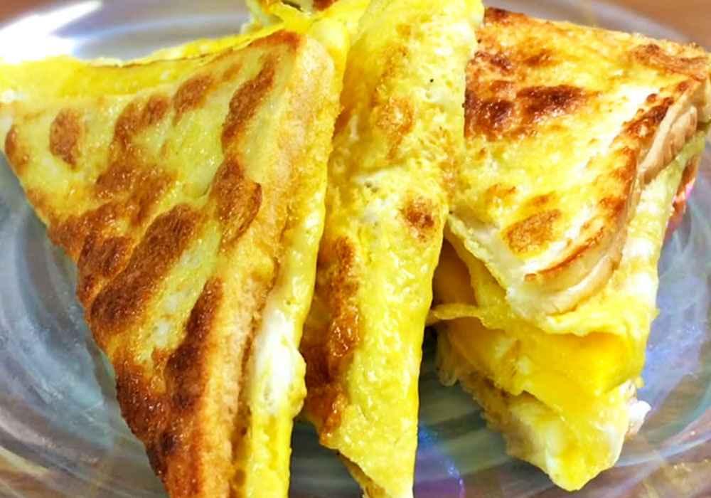 Омлет зі скибочками хліба - покроковий рецепт, фото 1