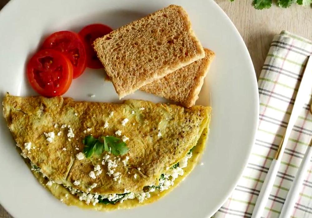 Омлет зі шпинатом - покроковий рецепт, фото 1