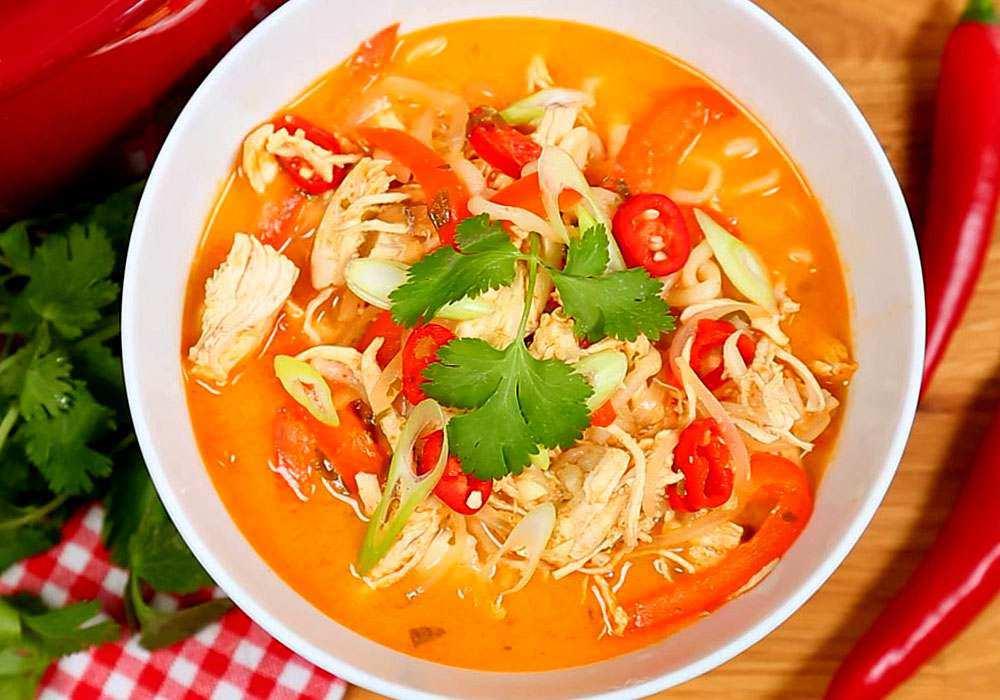 Гострий курячий суп - покроковий рецепт, фото 1