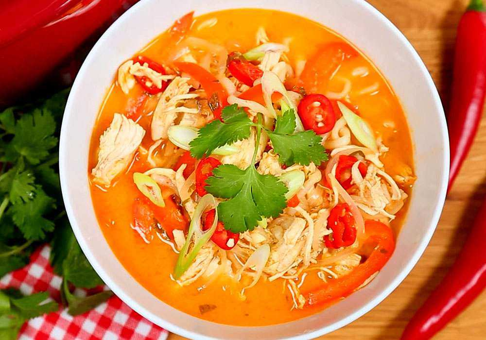 Острый куриный суп - пошаговый рецепт, фото 1